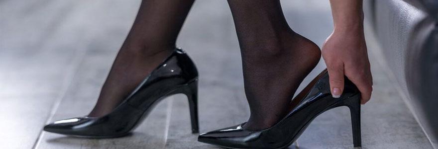 chaussures porter avec des collants